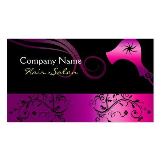 Hair Stylist Business Cards Hair Salon Business Card