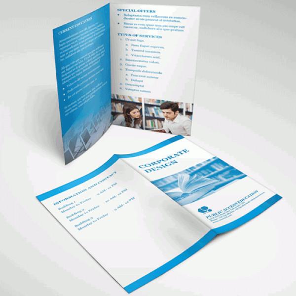 Half Fold Brochure Template Half Fold Brochures & Menu Printing