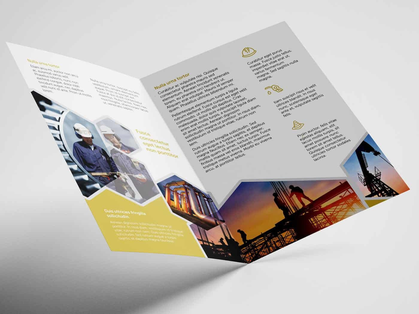 Half Fold Brochure Template Half Fold Oil and Gas Brochure Template On Vectogravic
