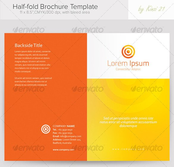 Half Fold Program Template 37 Half Fold Brochure Templates