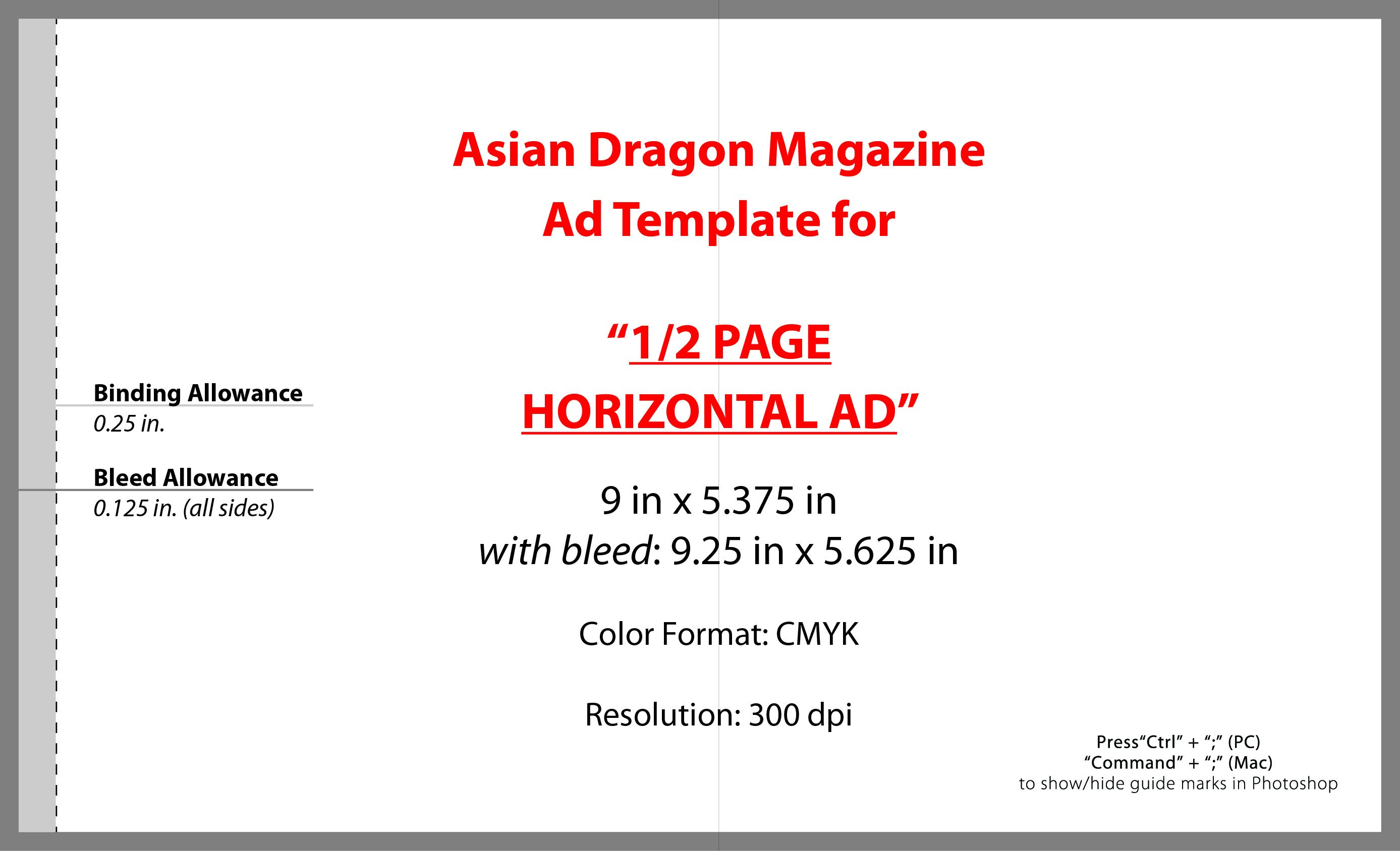 Half Page Advertisement Template Advertise
