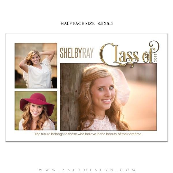 Half Page Advertisement Template ashe Design Senior Yearbook Ad