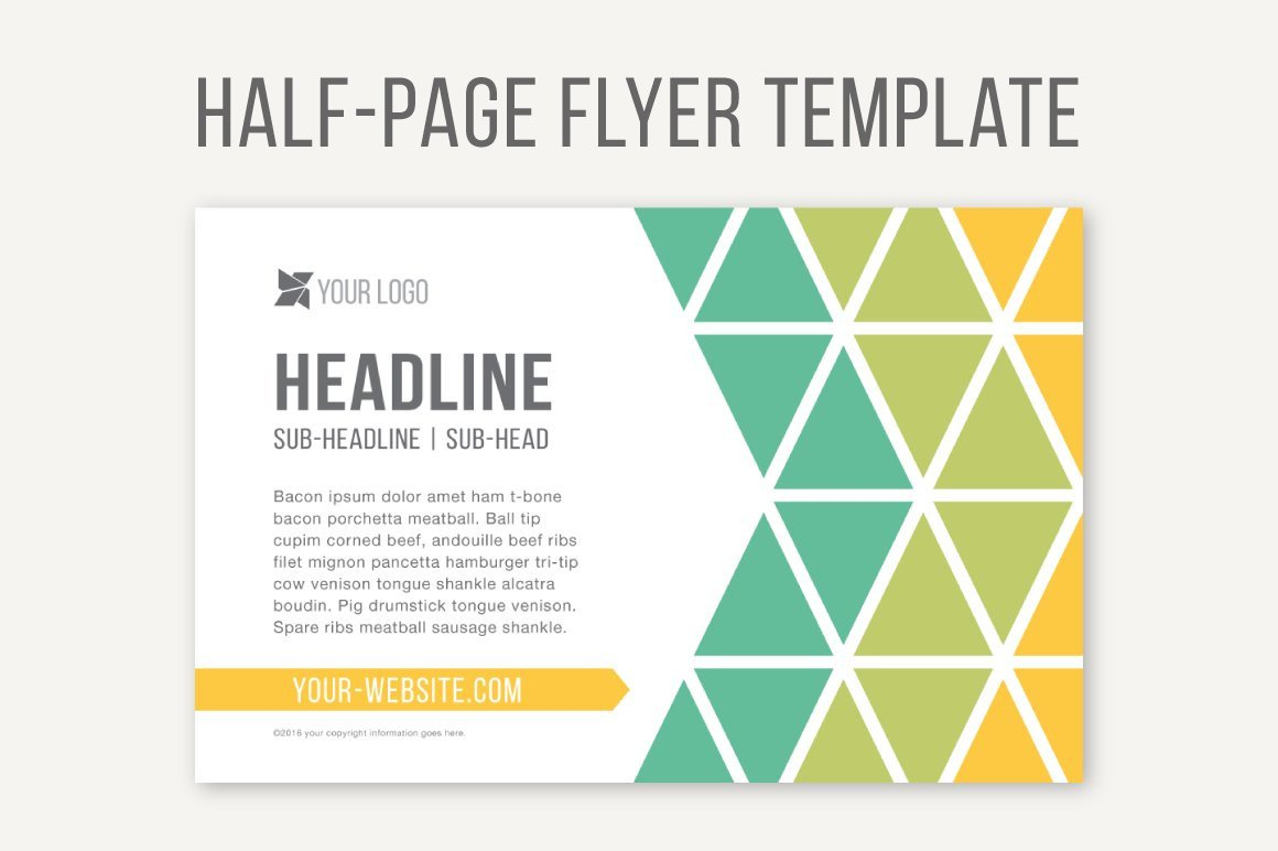 Half Page Advertisement Template Half Page Flyer Template Templates Creative Market
