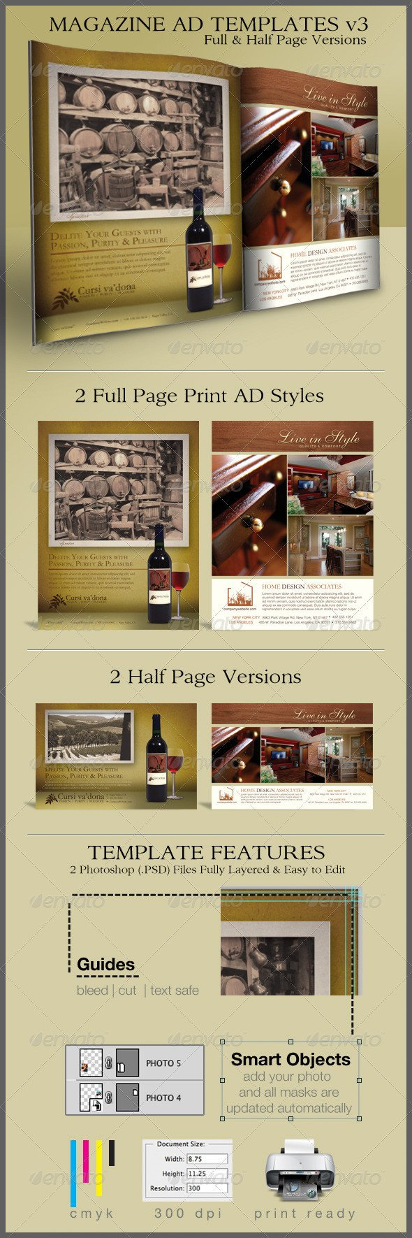 Half Page Advertisement Template Print Ad Templates and Layouts V3 On Behance