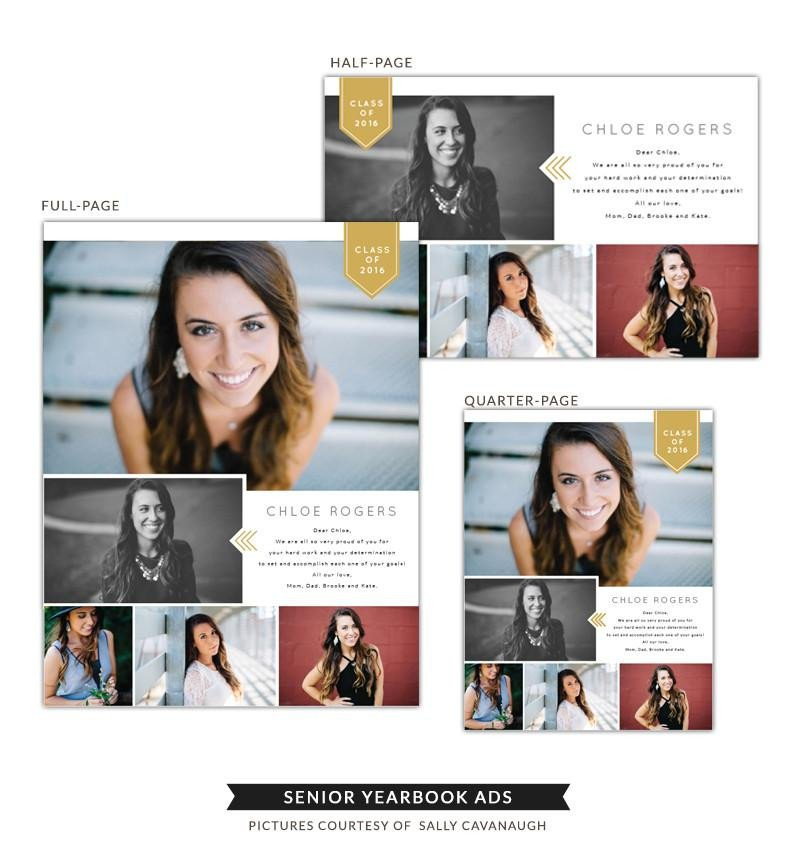Half Page Advertisement Template Senior Yearbook Ads