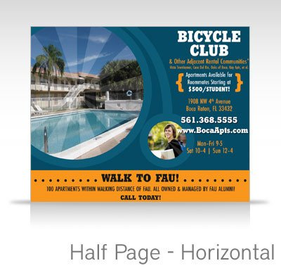 Half Page Advertisement Template Universityparent