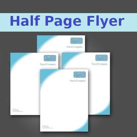 Half Page Flyer Template Half Page Flyer Template