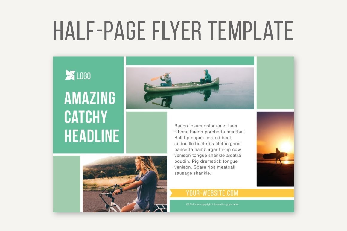 Half Sheet Flyer Template Half Page Flyer Template Templates Creative Market