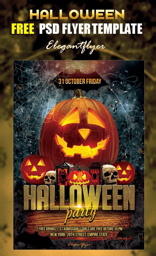 Halloween Flyer Template Free 16 Free Psd Halloween Party Flyer Designs Jpg Vector