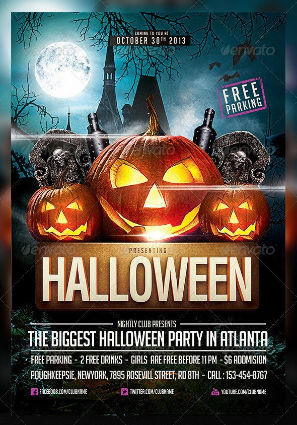 Halloween Flyer Template Free 60 Premium & Free Psd Halloween Flyer Templates