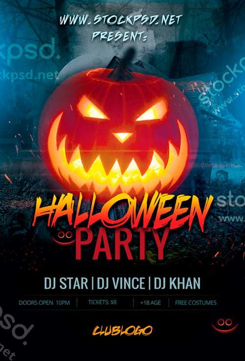 Halloween Flyer Template Free Download Free Halloween Flyer Psd Templates for Shop