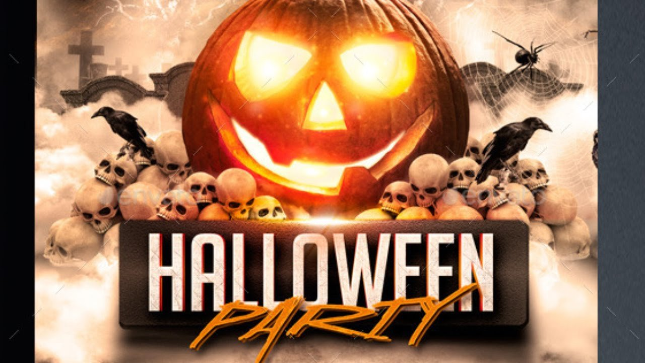 Halloween Flyer Template Free Halloween Party Flyer Template Free for Shope