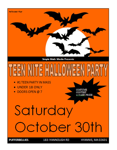 Halloween Flyer Template Free Halloween Party Flyer Template Microsoft Word Templates