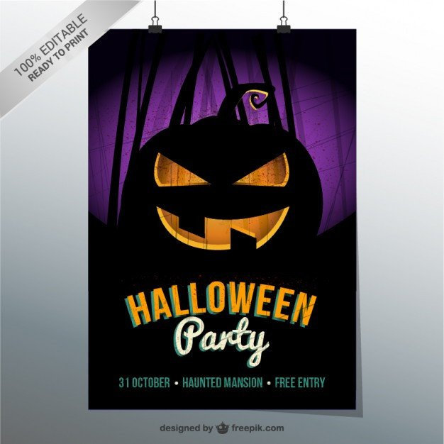 Halloween Flyer Template Free Halloween Party Flyer Template Vector