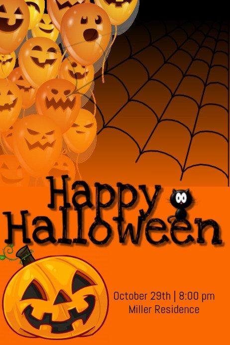 Halloween Flyer Template Free Happy Halloween Template