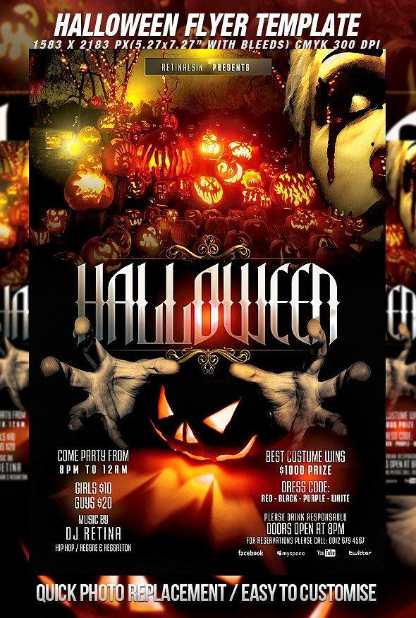 Halloween Flyer Template Free Psd Halloween Flyer Template