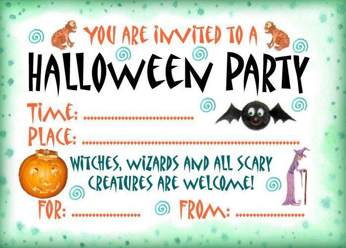 Halloween Party Invitation Template 16 Awesome Printable Halloween Party Invitations