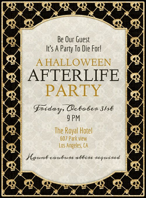 Halloween Party Invitation Template 35 Halloween Invitation Free Psd Vector Eps Ai