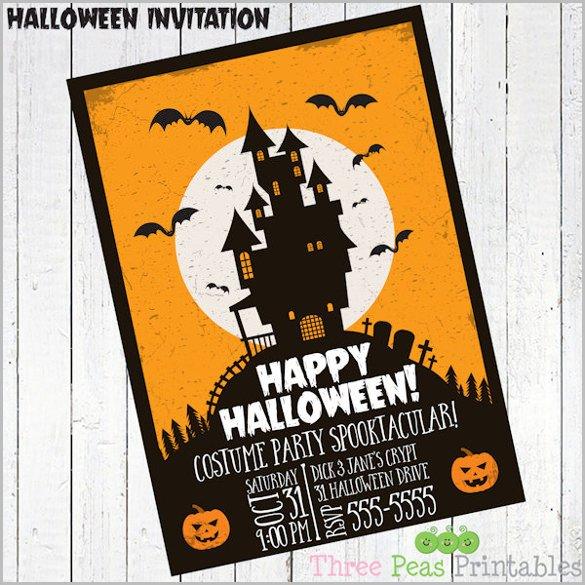 Halloween Party Invitation Template 35 Halloween Invitation Templates Free Psd Invitations