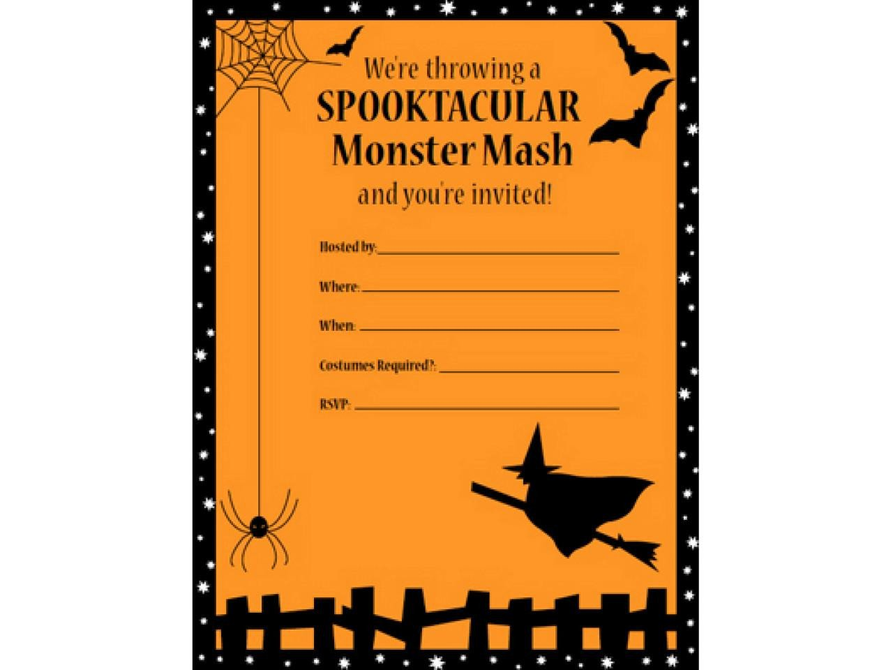 Halloween Party Invitation Template 41 Printable and Free Halloween Templates