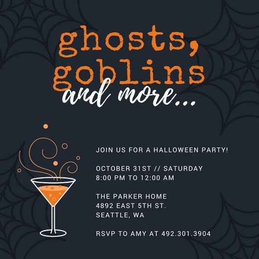 Halloween Party Invitation Template Customize 3 999 Halloween Party Invitation Templates