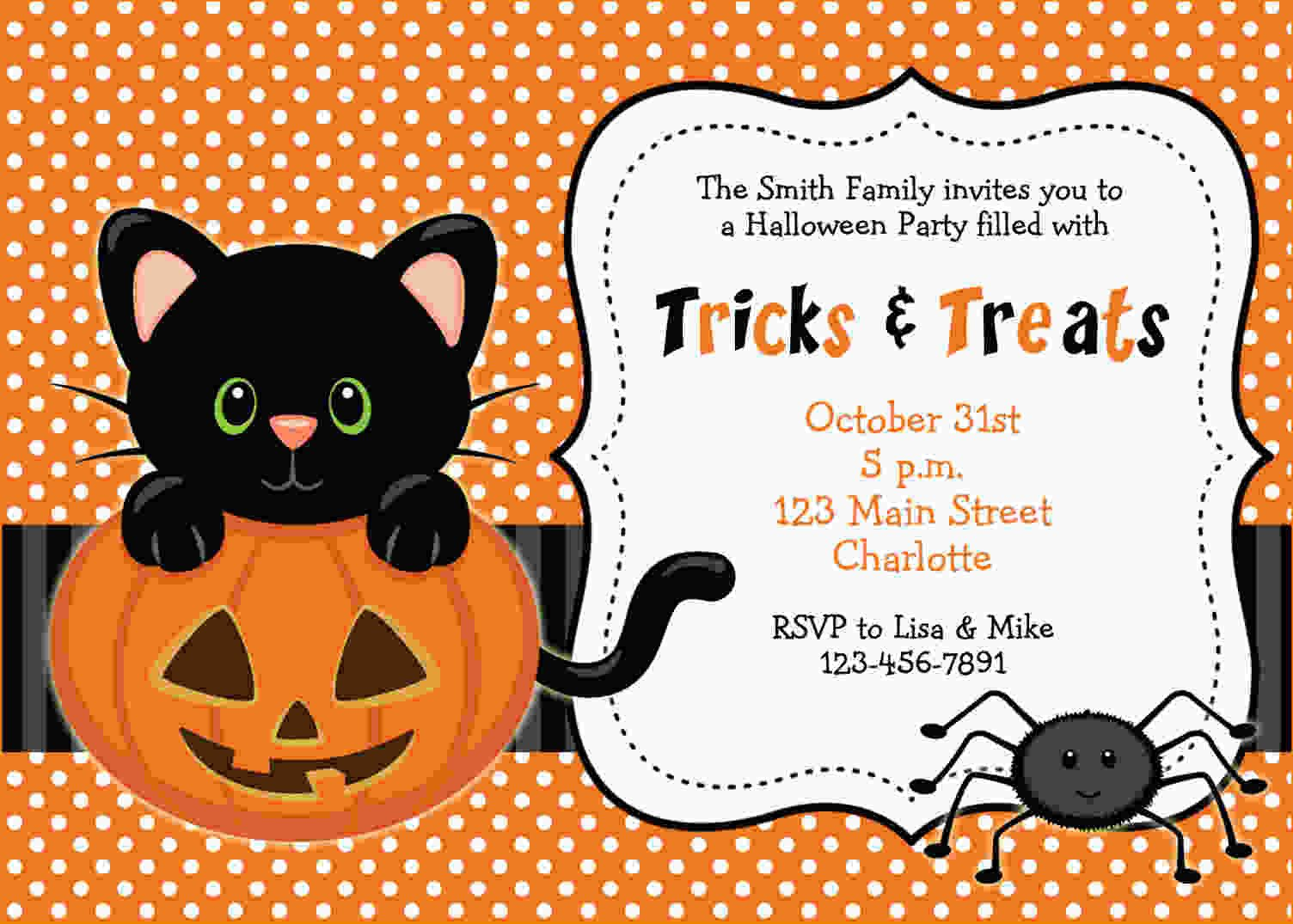 Halloween Party Invitation Template Free Printable Halloween Invitations Templates