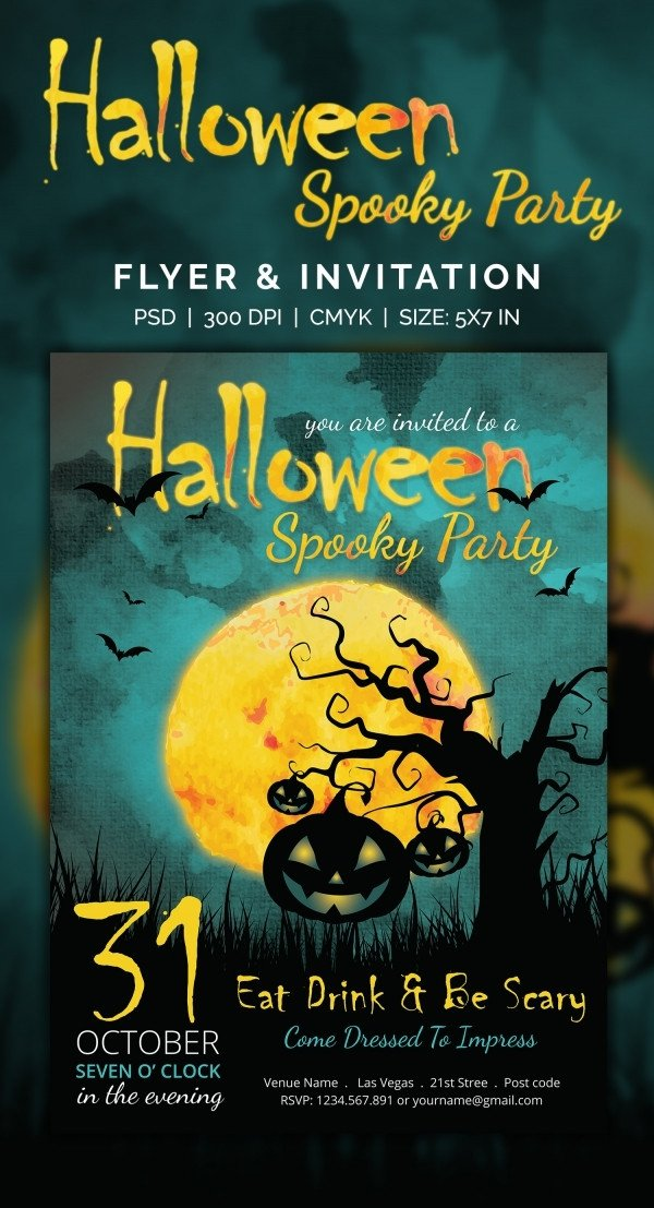 Halloween Party Invitation Templates 35 Halloween Invitation Free Psd Vector Eps Ai