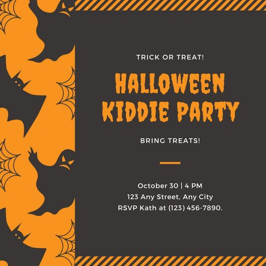 Halloween Party Invitation Templates Customize 3 998 Kids Party Invitation Templates Online