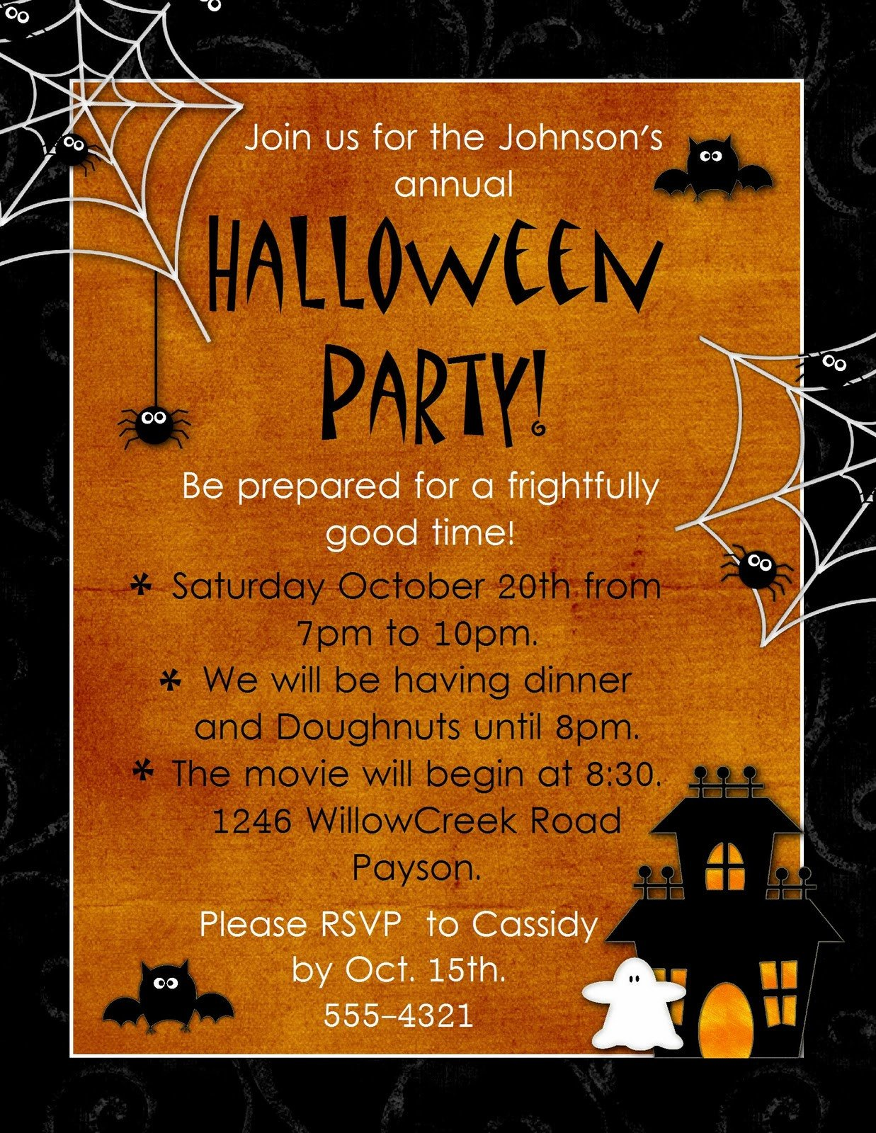 "Halloween Party Invitation Templates Geneawebinars ""preserving Those Fun Autumn Memories"""
