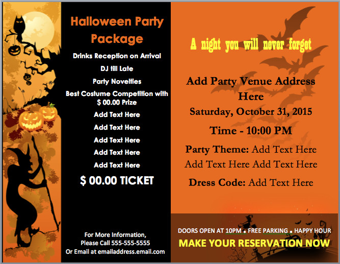 Halloween Party Invitation Templates Halloween Party Invitation Template – Microsoft Word Templates