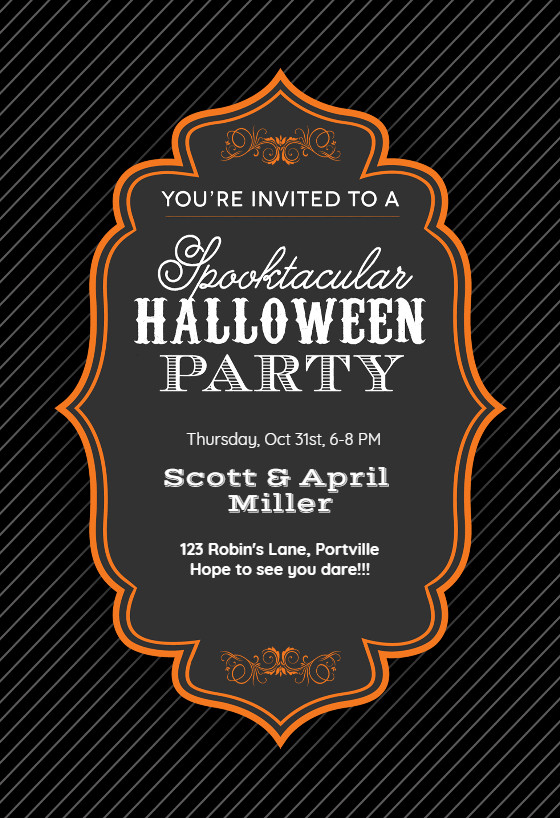Halloween Party Invitation Templates Spooktacular Halloween Party Halloween Party Invitation