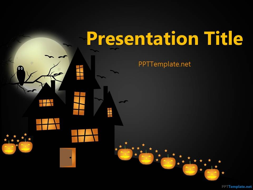 Halloween Power Point Templates Free Dark Halloween Ppt Template
