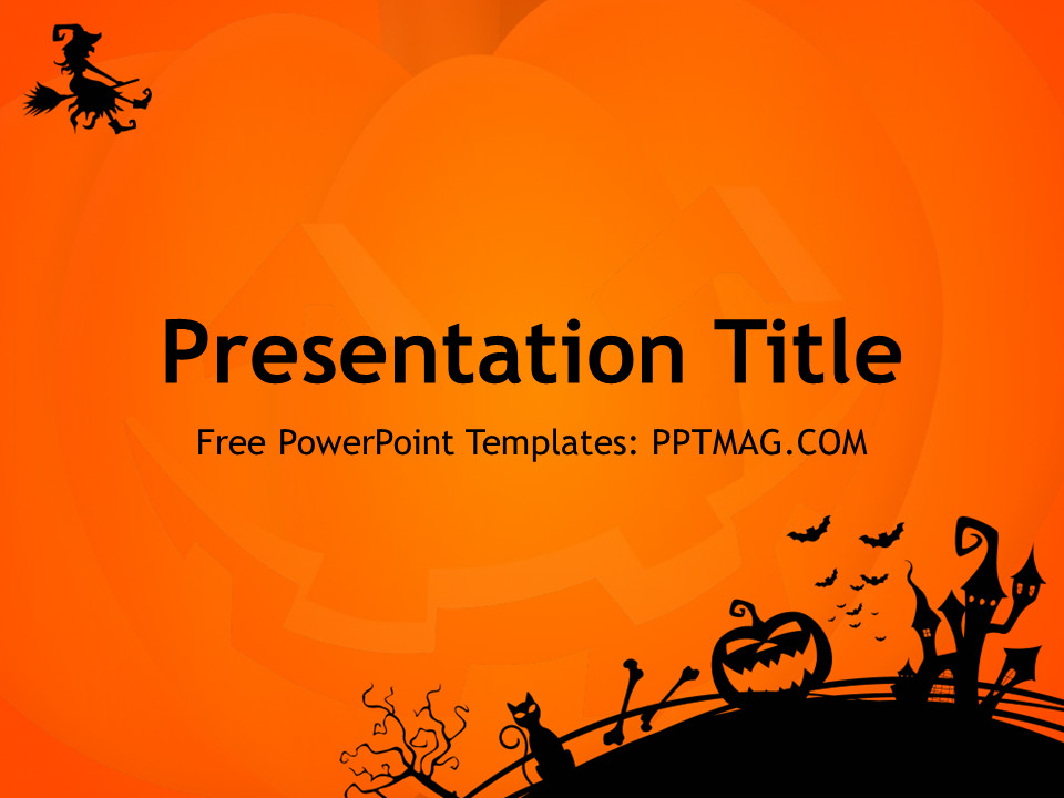 Halloween Power Point Templates Free Halloween Powerpoint Template Pptmag