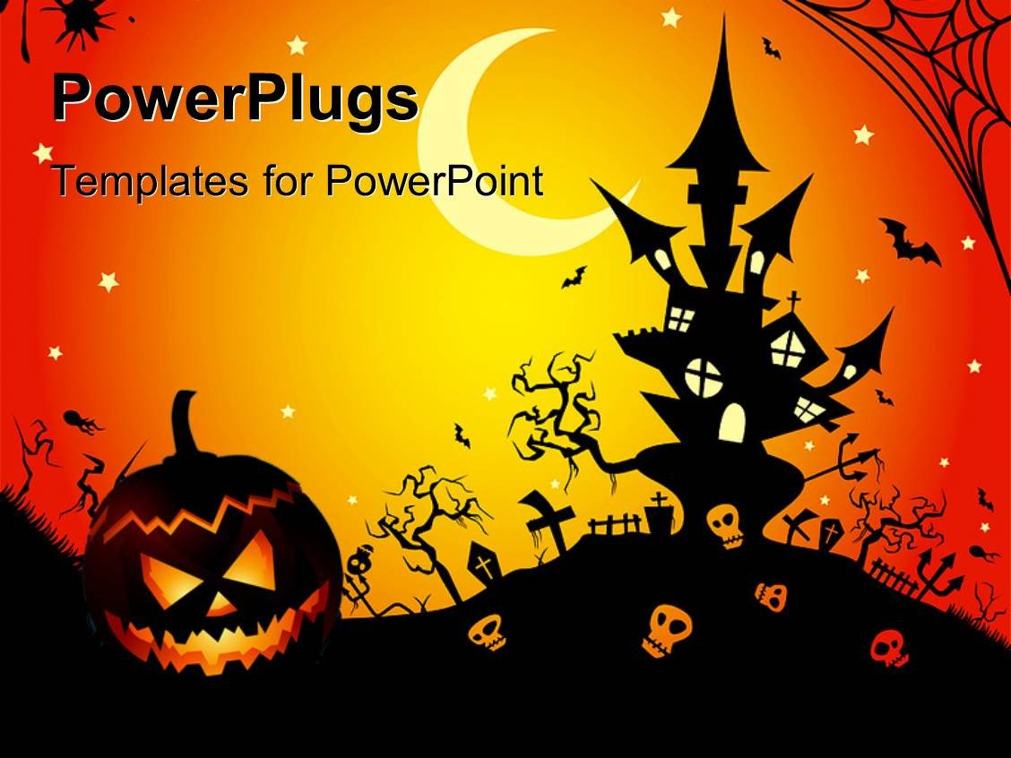 Halloween Power Point Templates Powerpoint Template Illustration Of A Halloween Night
