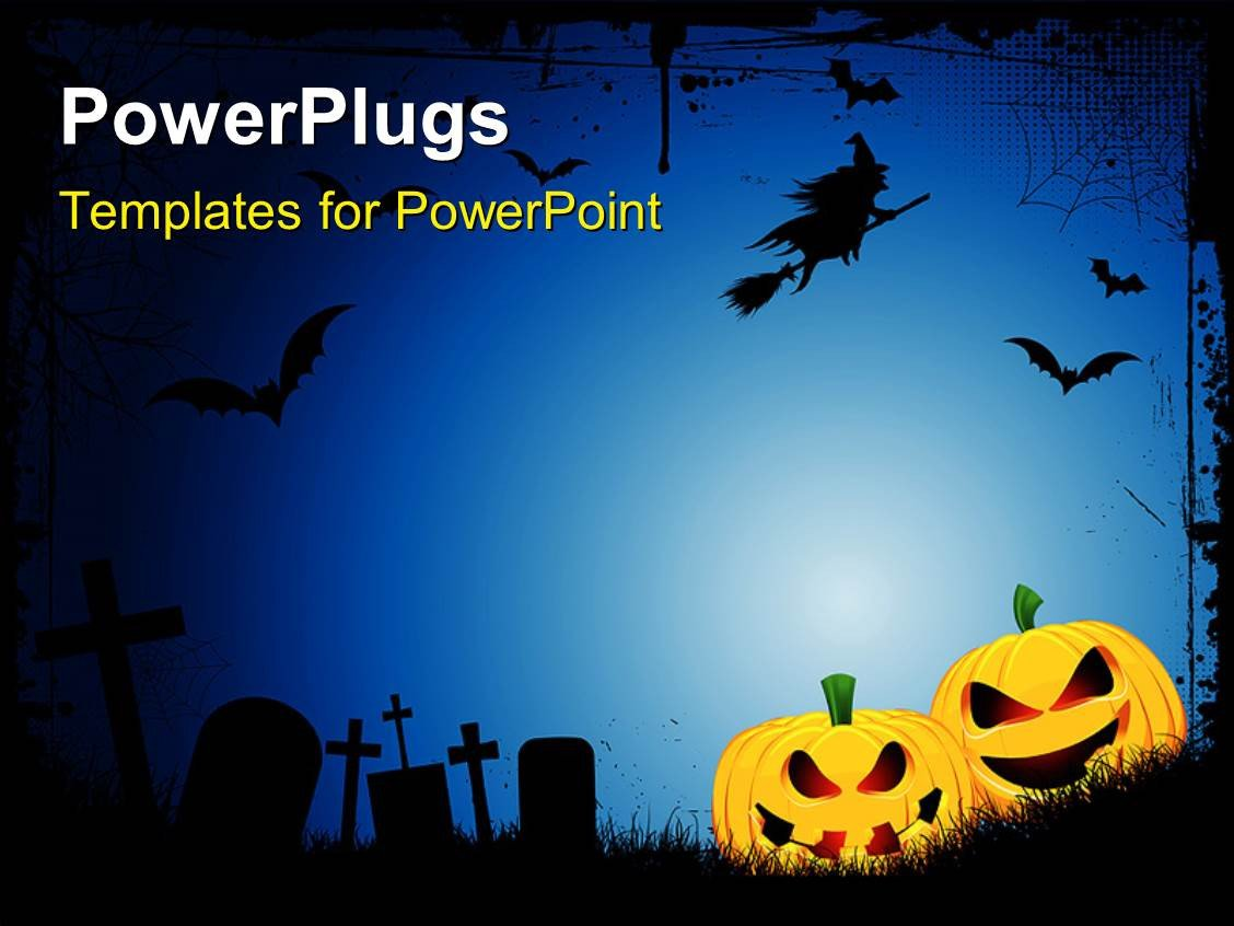 Halloween Power Point Templates Powerpoint Template Spooky Halloween Background with