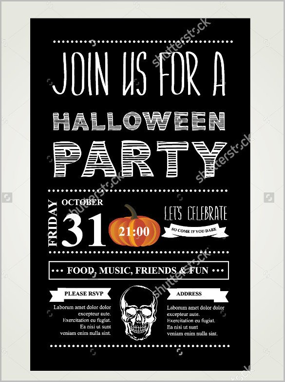 Halloween Templates for Word 35 Halloween Invitation Free Psd Vector Eps Ai