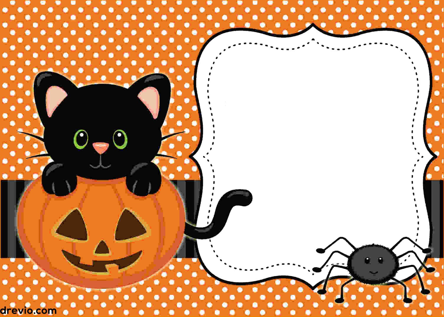 Halloween Templates for Word Free Printable Halloween Invitations Templates