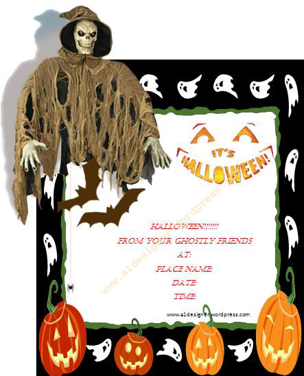 Halloween Templates for Word Halloween Invitation Template