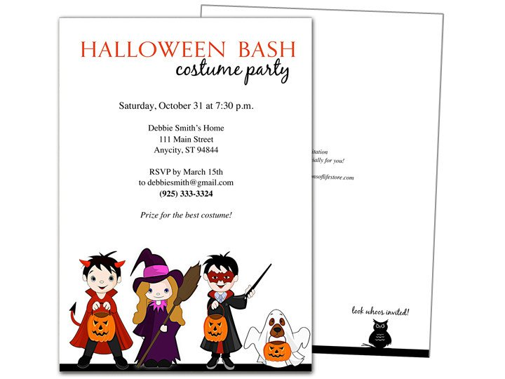 Halloween Templates for Word Halloween Invitation Templates Microsoft Word – Festival