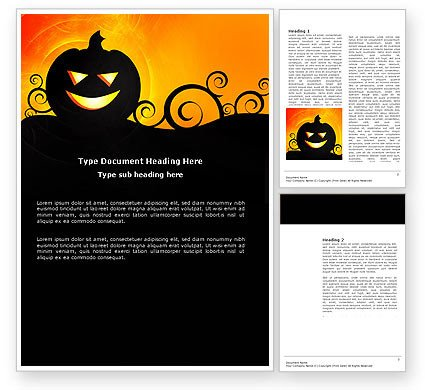 Halloween Templates for Word Halloween is Near Word Template