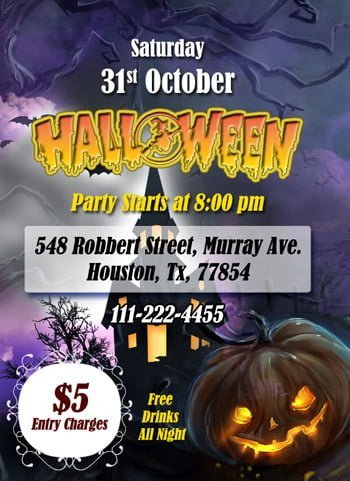 Halloween Templates for Word Ms Word Halloween Party Flyer