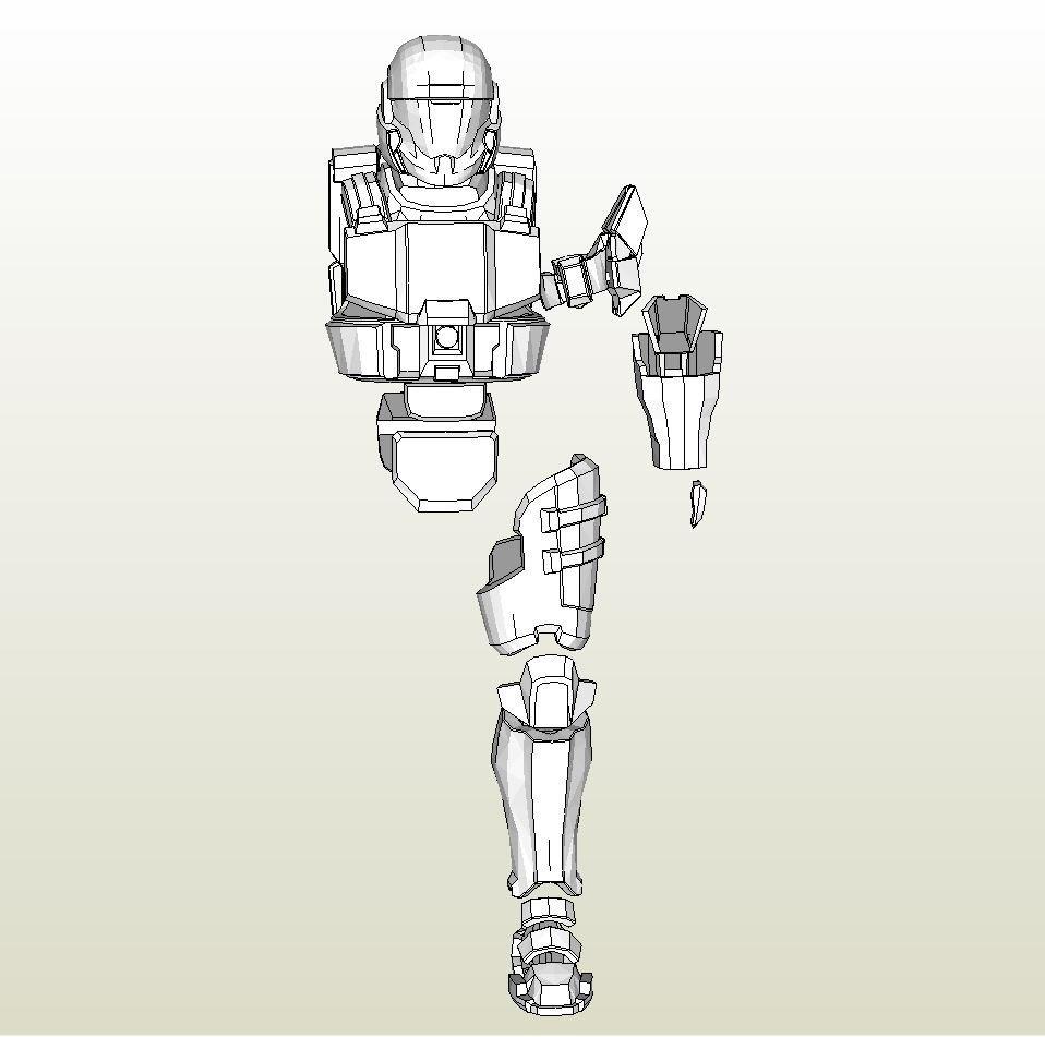 Halo Odst Foam Armor Templates Foamcraft Pdo File Template for Halo 3 Odst Full