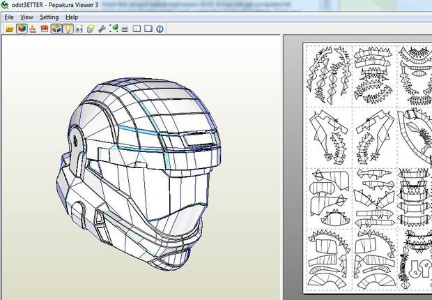Halo Odst Foam Armor Templates Halo Odst Armor Build Table Contents toc