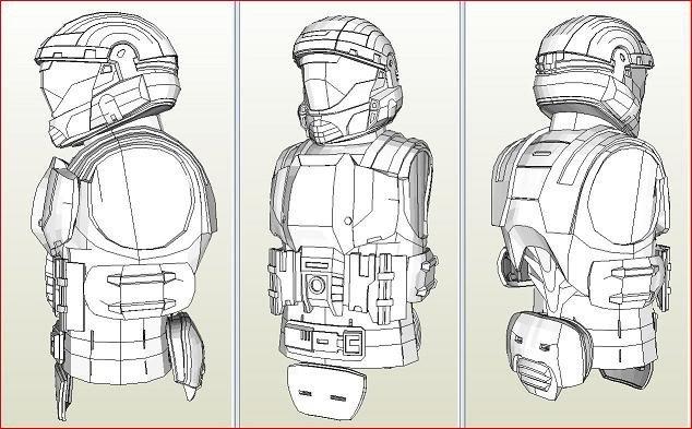 Halo Odst Foam Armor Templates Hughs Odst Build