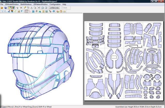 Halo Odst Foam Armor Templates Paper Craft New 296 Halo Armor Papercraft Pdf