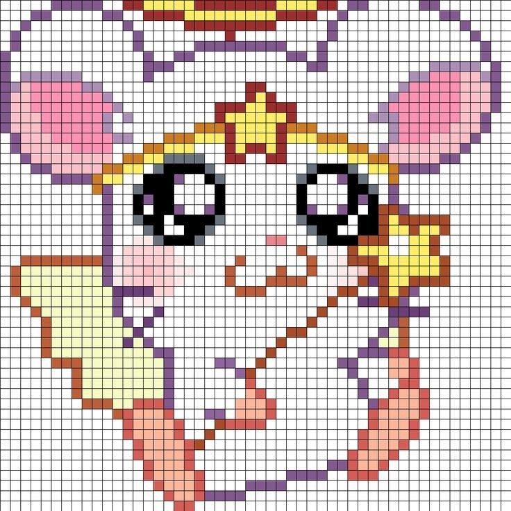 Hamster Pixel Art Cute Angel Hamster Part 1 Perler Bead Pattern Bead