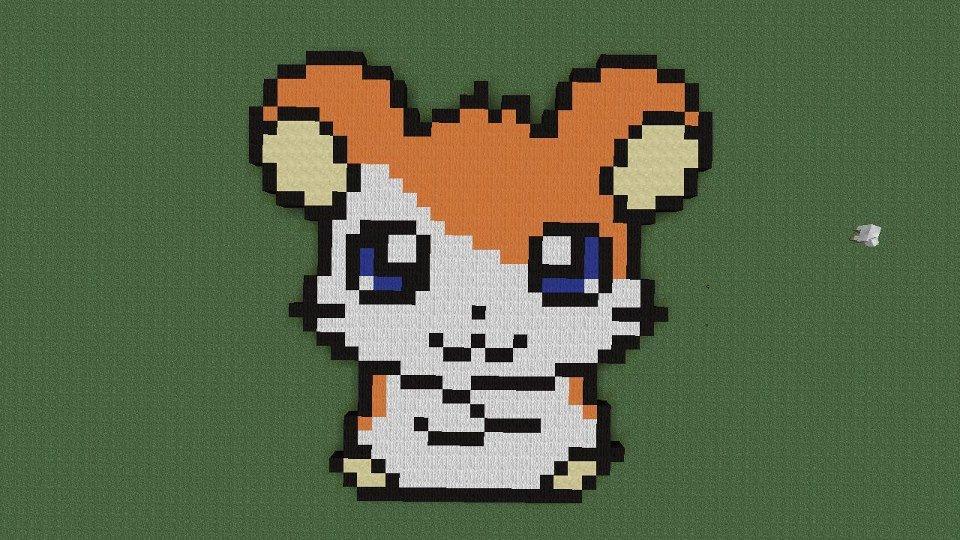 Hamster Pixel Art Hamster In Minecraft by Relaxo511 On Deviantart