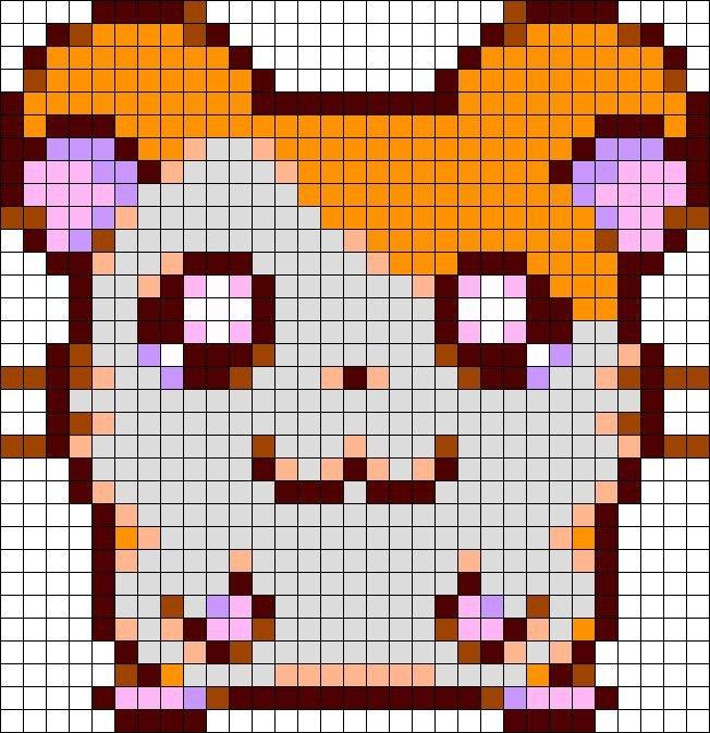 Hamster Pixel Art Hamster Minecraft Template