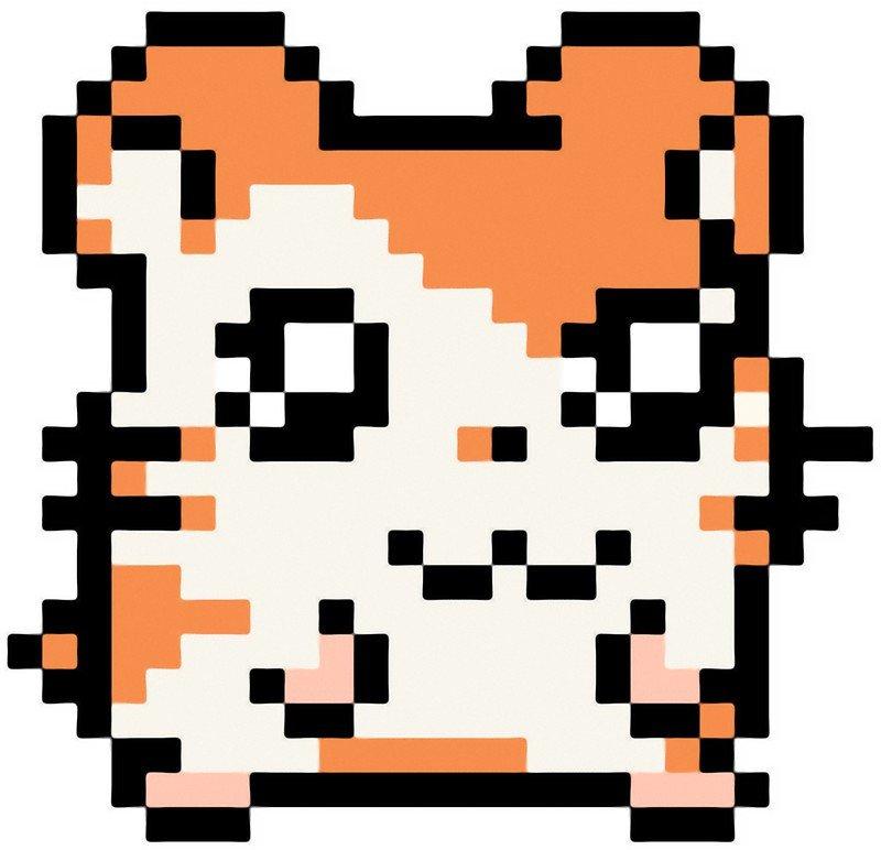 """Hamster Pixel Art """"pixel Hamster"""" Stickers by Ja Jagirl"""