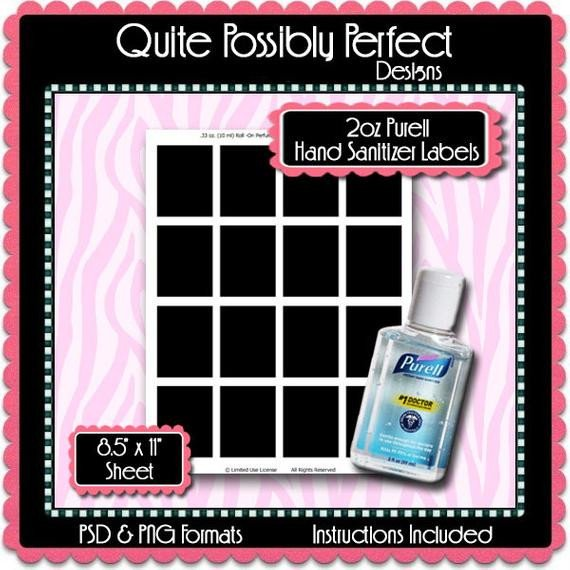 Hand Sanitizer Label Template Free 2oz Mini Hand Sanitizer Label Template by Quitepossiblyperfect